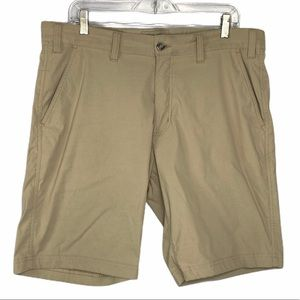 Eddie Bauer Khaki Flat Front Shorts Size 36